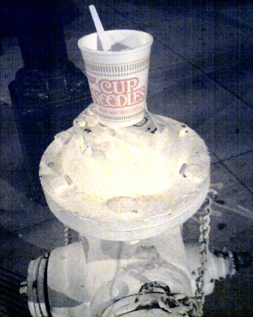 cup o noodles hydrant
