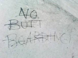 butt-boarding