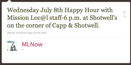 Mission Loc@l Staff Happy Hour