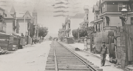 Capp St @ 21st - Still covered in garbage 100 years later, 1906.