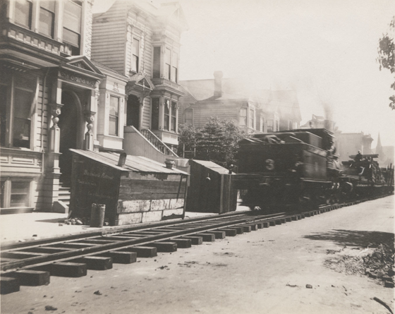 Temporary Freight Train, 20th and Capp, 1906