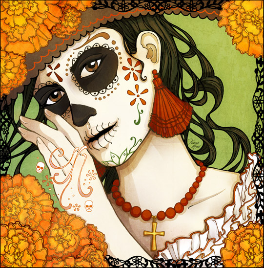 The 2009 Day of the Dead poster: a work in progress / Kiriko Moth